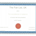 The Fair List