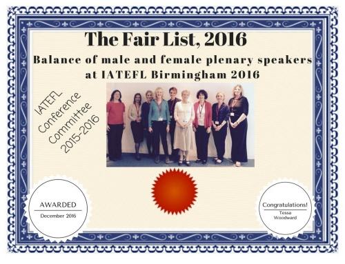 The Fair List, UK certificate 2016