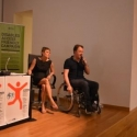 Katie Quartano and Paul Shaw of the Disabled Access Friendly Campaign